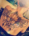 Mermaid Queen Back tattoo