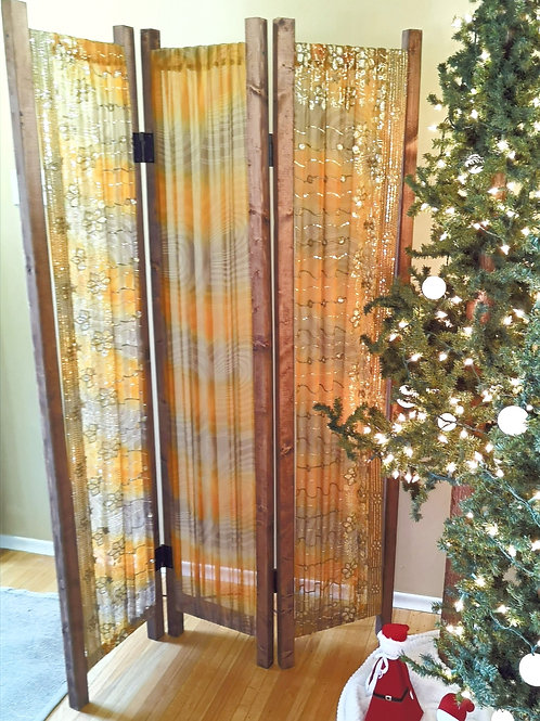 Gold & Olive Green Room Divider
