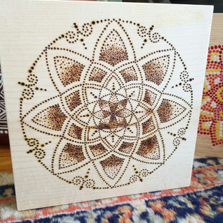 Woodburnt Mandala
