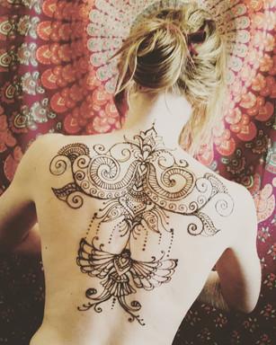Hummingbird Back Tattoo