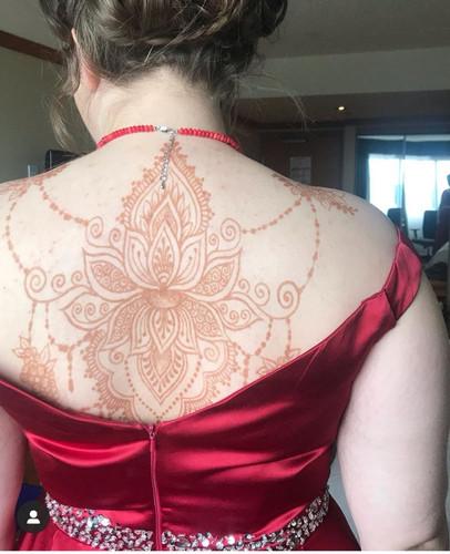 Large Lotus Back wrap