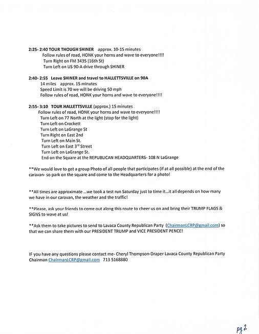 TRUMP RALLY INSTRUCTIONS LAVACA  pg 2.jp