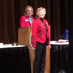 RWOYA President Brenda cash eing recognized on stage