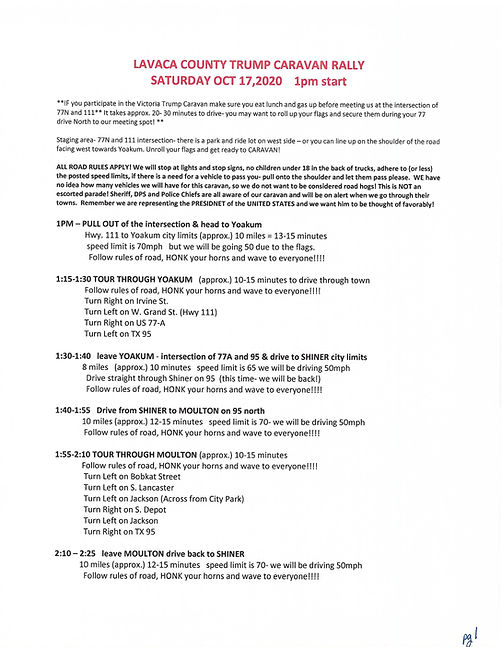 TRUMP RALLY INSTRUCTIONS LAVACA  pg 1.jp