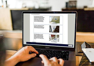 Computer screen Graphic with report on i