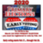 2020 Primary Voter registration Early Vo