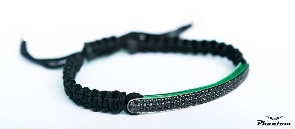 Pave Macrame Bracelet