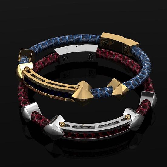 Quattro Saw Ostrich Bracelets