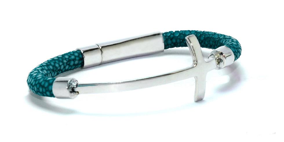 Turquoise stingray Cris cross bracelet