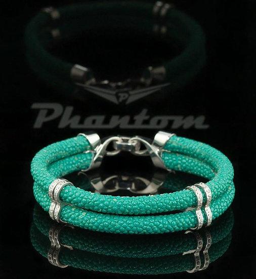 Turquoise Stingray Leather Bracelet