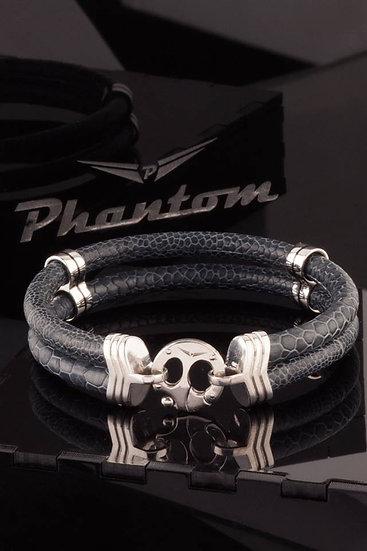 Grey Ostrich Leather Bracelet