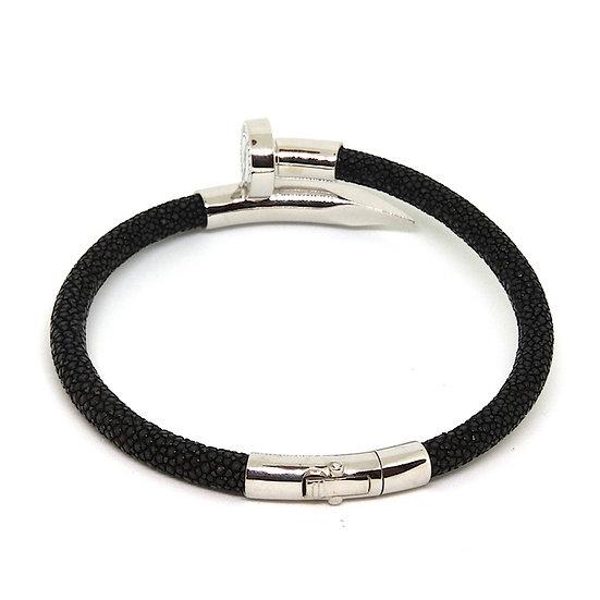 Black lizard nail bracelet