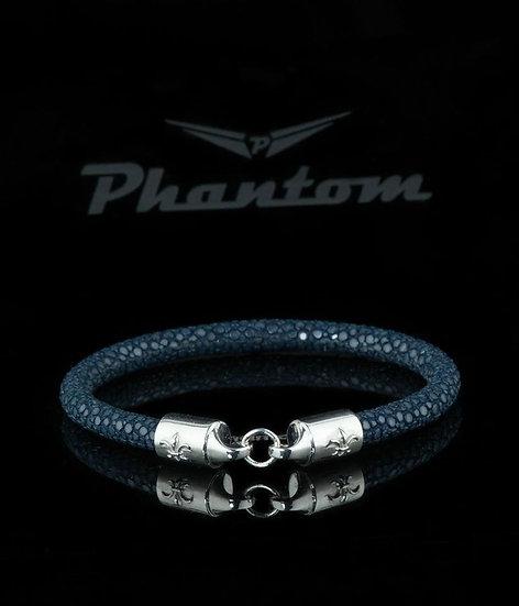 Dark Blue Stingray Leather Bracelet
