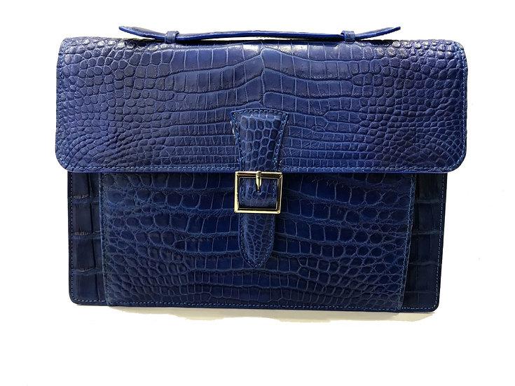Blue crocodile briefcase