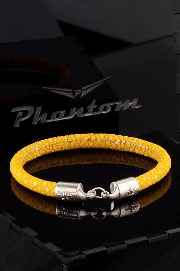Yellow Stingray Leather Bracelet
