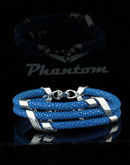 Navy Blue Stingray Leather Bracelet