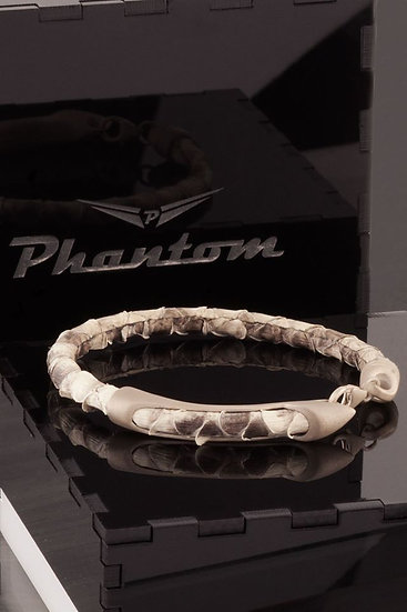 Grey Python Leather Bracelet
