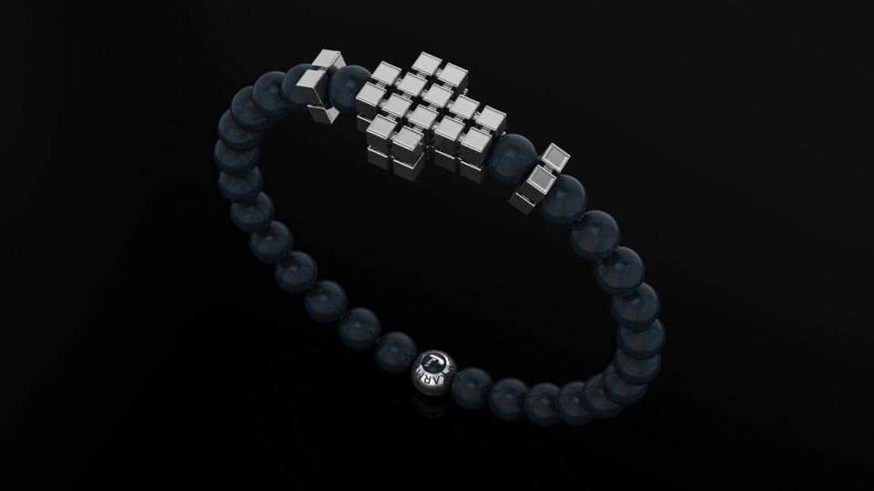 Agate & Cube Cross Bracelet