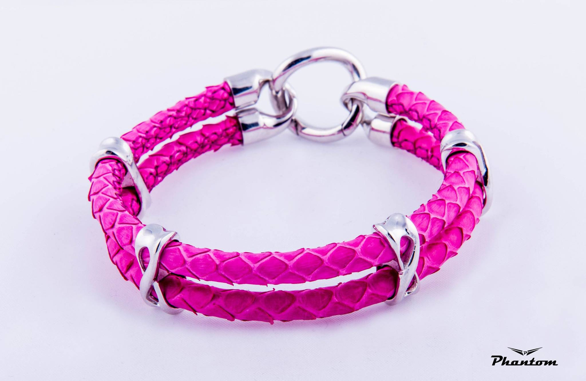 Pink Python Leather Bracelet | phantom
