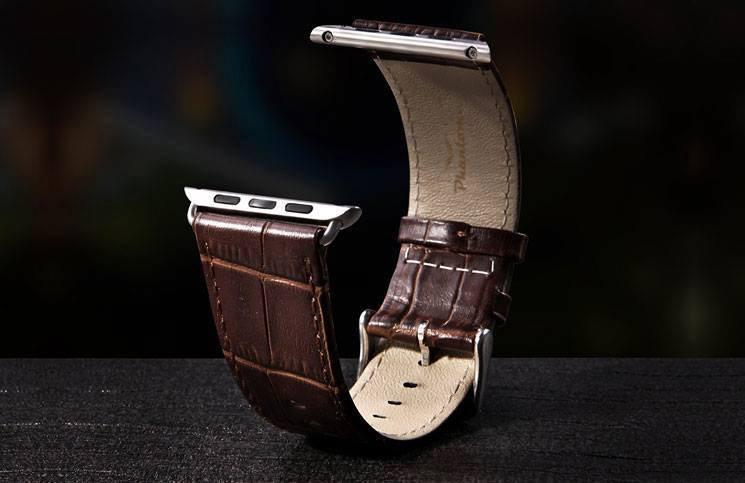 Brown crocodile Apple watch band
