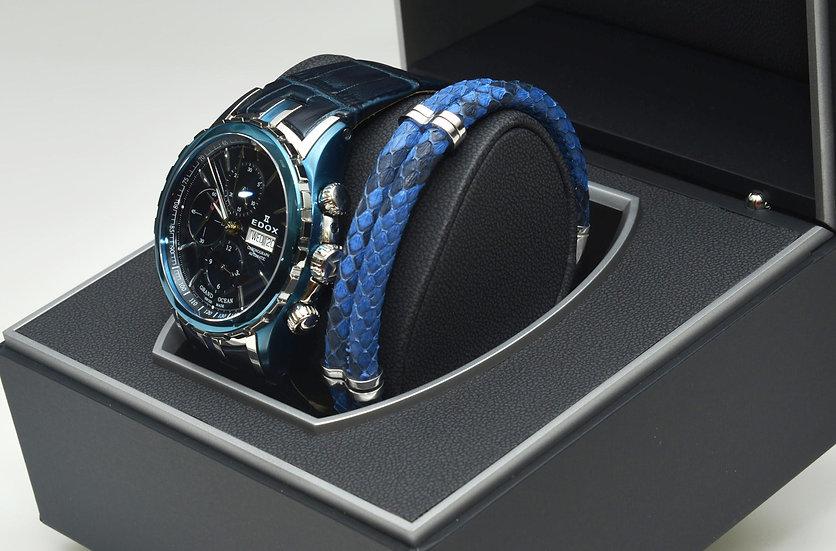 Blue Python Leather Bracelet