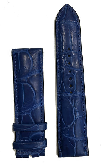 Blue crocodile leather watch band