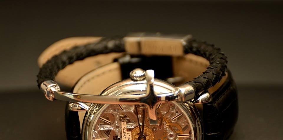 Black Pyhton Leather Bracelet