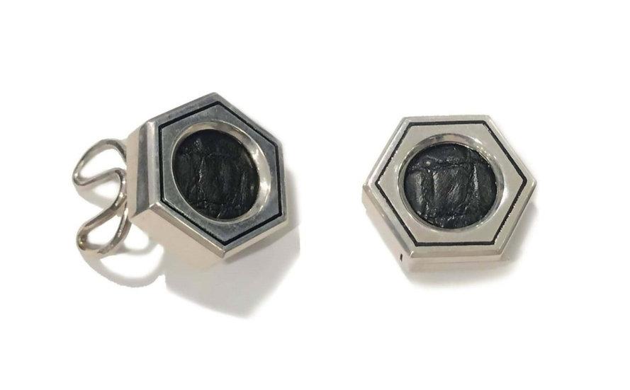 Hexagon cufflinks