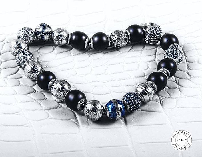 Charm and Onyx Bracelet
