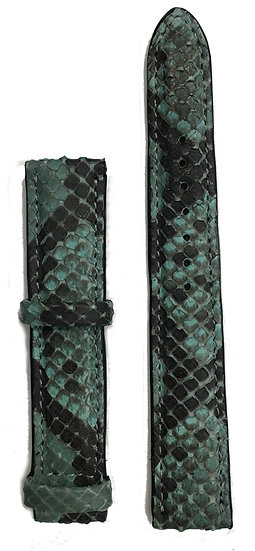 Turquoise python leather watch band