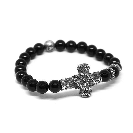 Wood Cross Bracelet