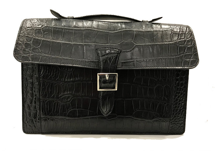 Black crocodile briefcase
