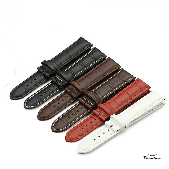 Crocodile leather watch bands