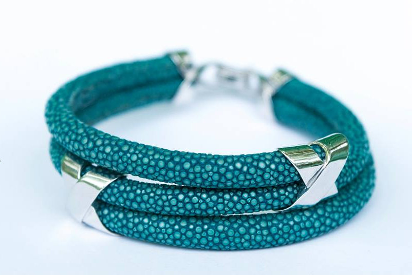 Turquoise stingray Triple Cross bracelet