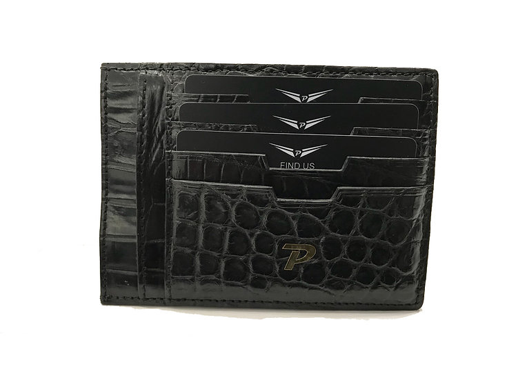 Black crocodile cardholder