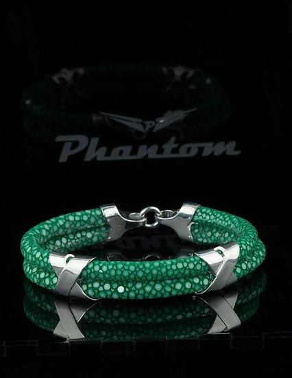 Green Stingray Leather Bracelet