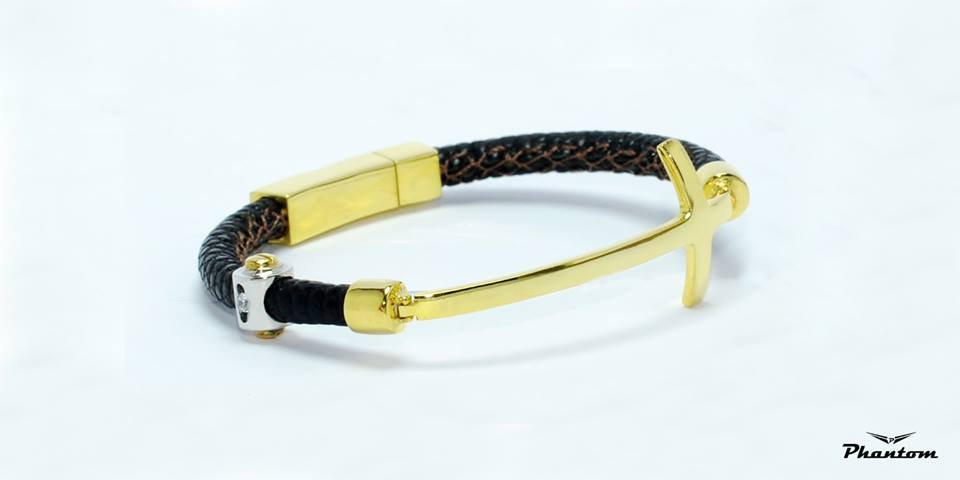 Brown Lizard Leather Bracelet