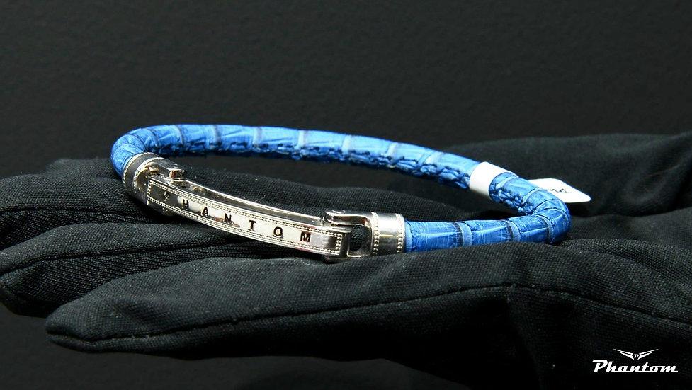 Blue Python Leather Brcaelet