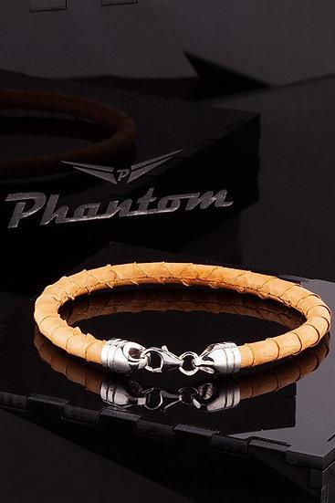 Yellow Python Leather Bracelet