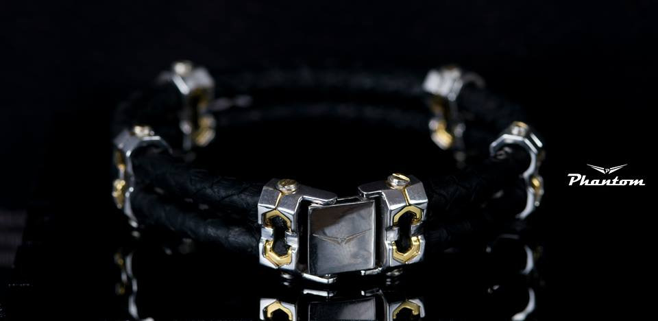 Black Python Leather Bracelet