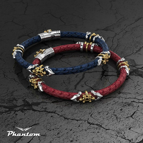Python Leather and Sterling Silver Bracelet