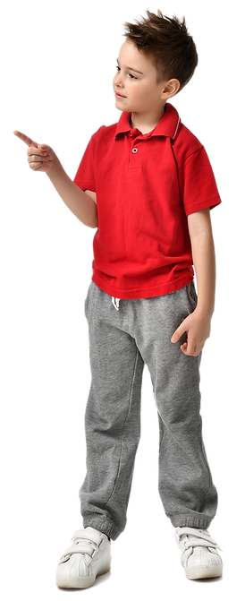 Boy Pointing with Red Shirt.png