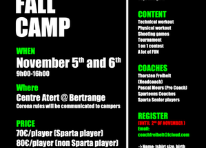 Sparteens Fall Camp 2020 with Head Coach Thorsten Freiheit