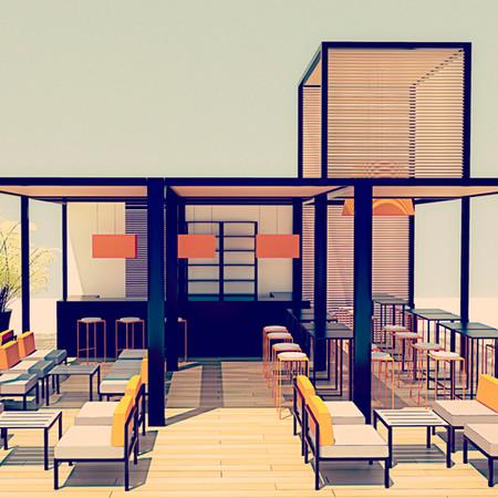 Beach Club por Risselin Design Consultant