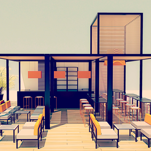 Beach Club por Risselin Design Consultant