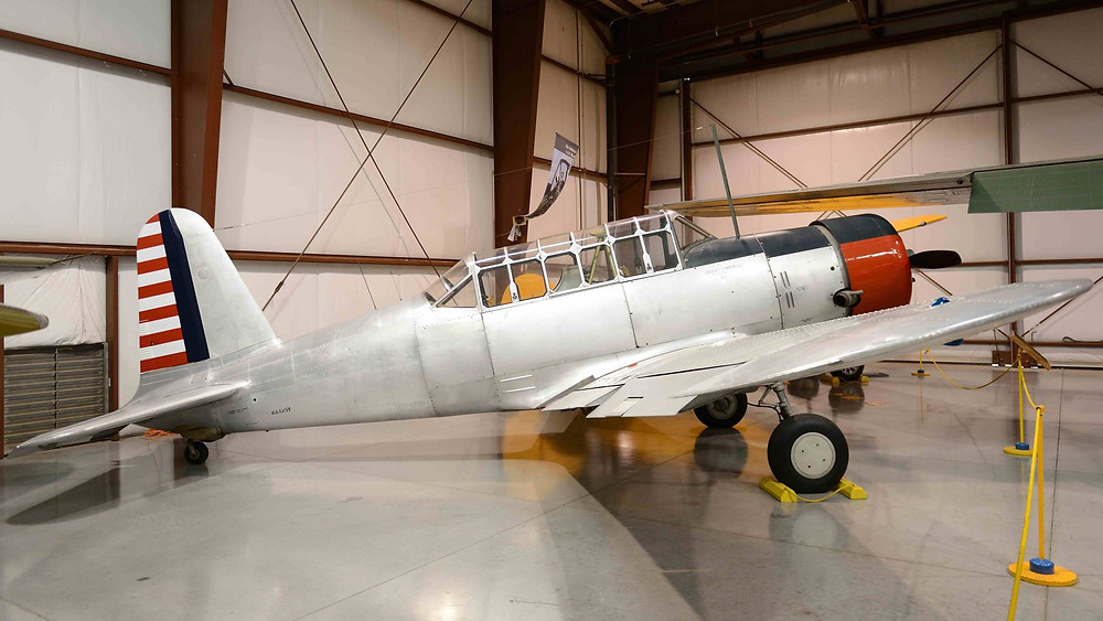 The basic trainer built for the US Army Air Force as the BT-13 and the US Navy as the SNV-1. The BT-13 outnumbered all other basic trainers produced in the US during WW II.