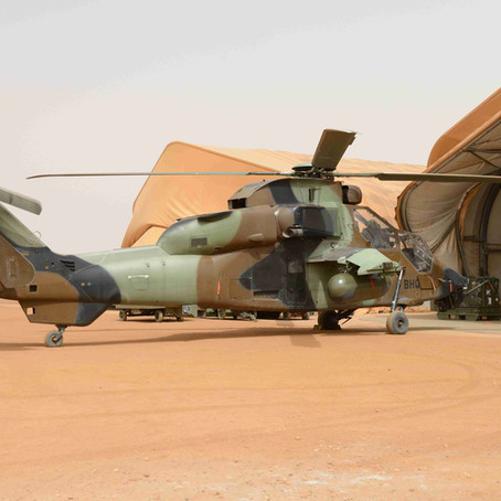 2015 French helicopters at Gao airport Mali