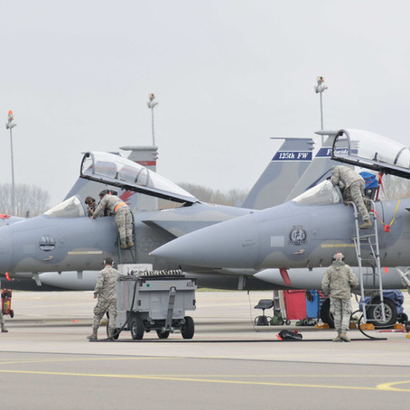2015 ANG F-15s over Europe
