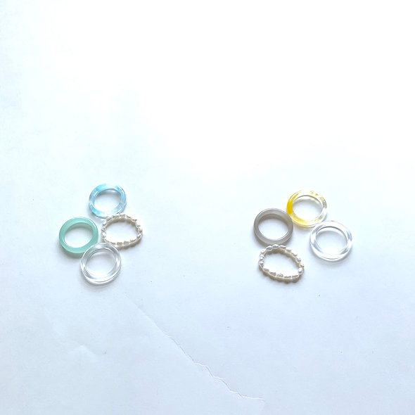 Clear set Rings_#sp289