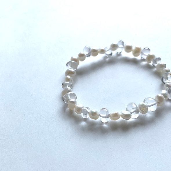 Pearl Clear Bracelet #sp286